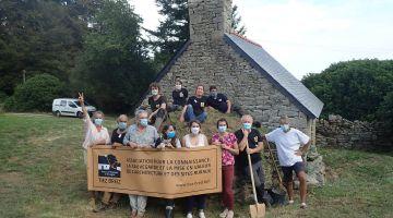 chantier participatif, restauration du four à pain, tiez breiz, patrimoine, bretagne
