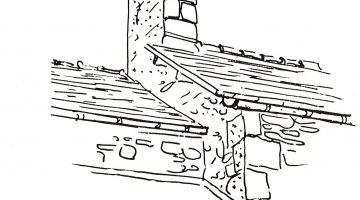 souche de cheminées anciennes, restauration du patrimoine, Bretagne